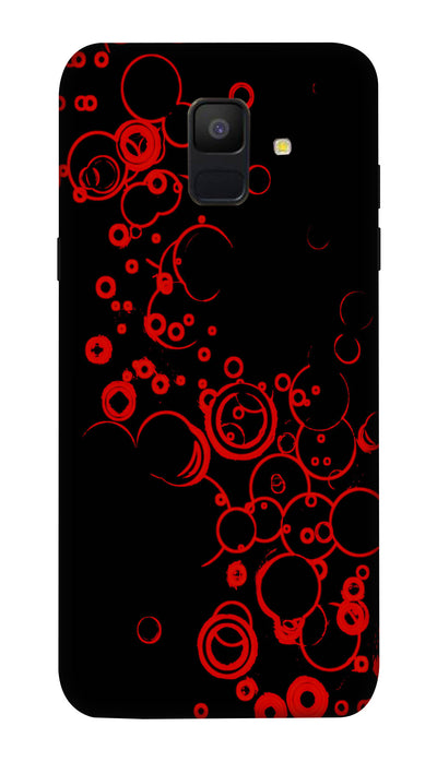 Black & red combo Hard Case For Samsung A6