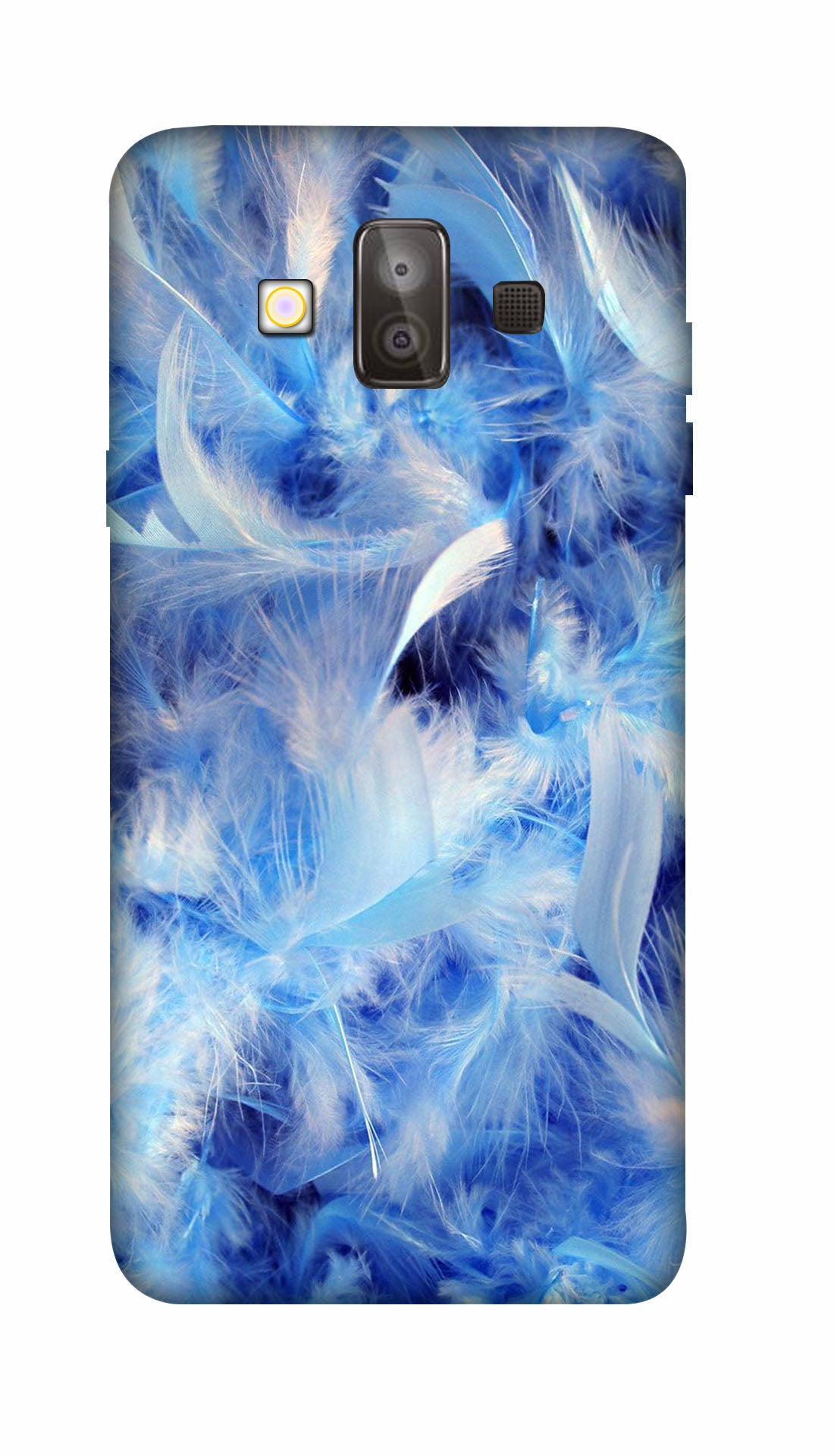 Blue feathers Hard Case For Samsung J7 Duo