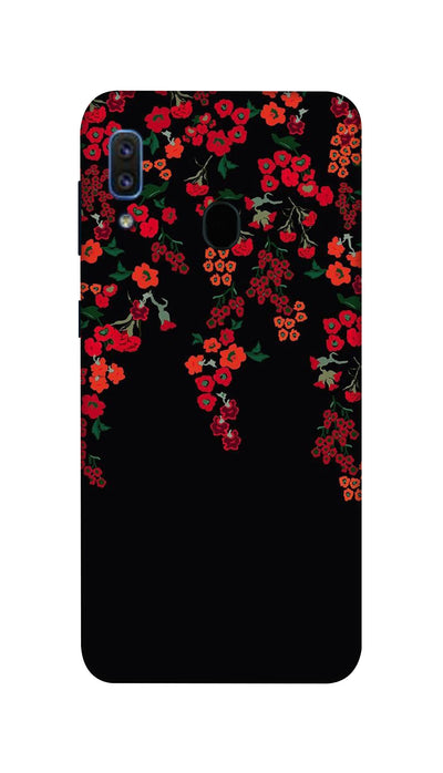 Red little flowers Hard Case For Samsung A30