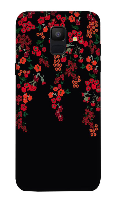 Red little flowers Hard Case For Samsung A6