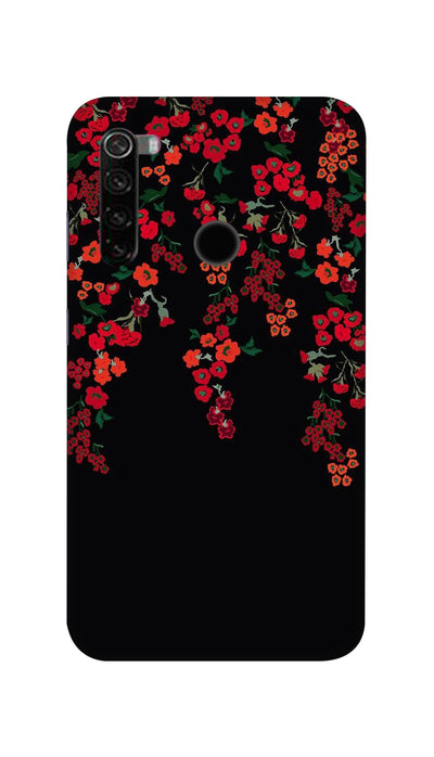 Red little flowers Hard Case For Mi Redmi Note 8