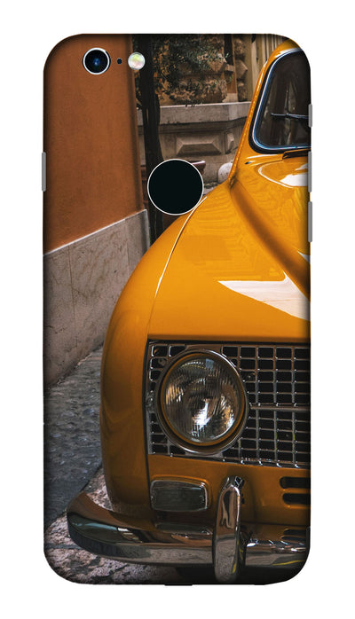 Yellow car Hard Case For Apple iPhone 6S