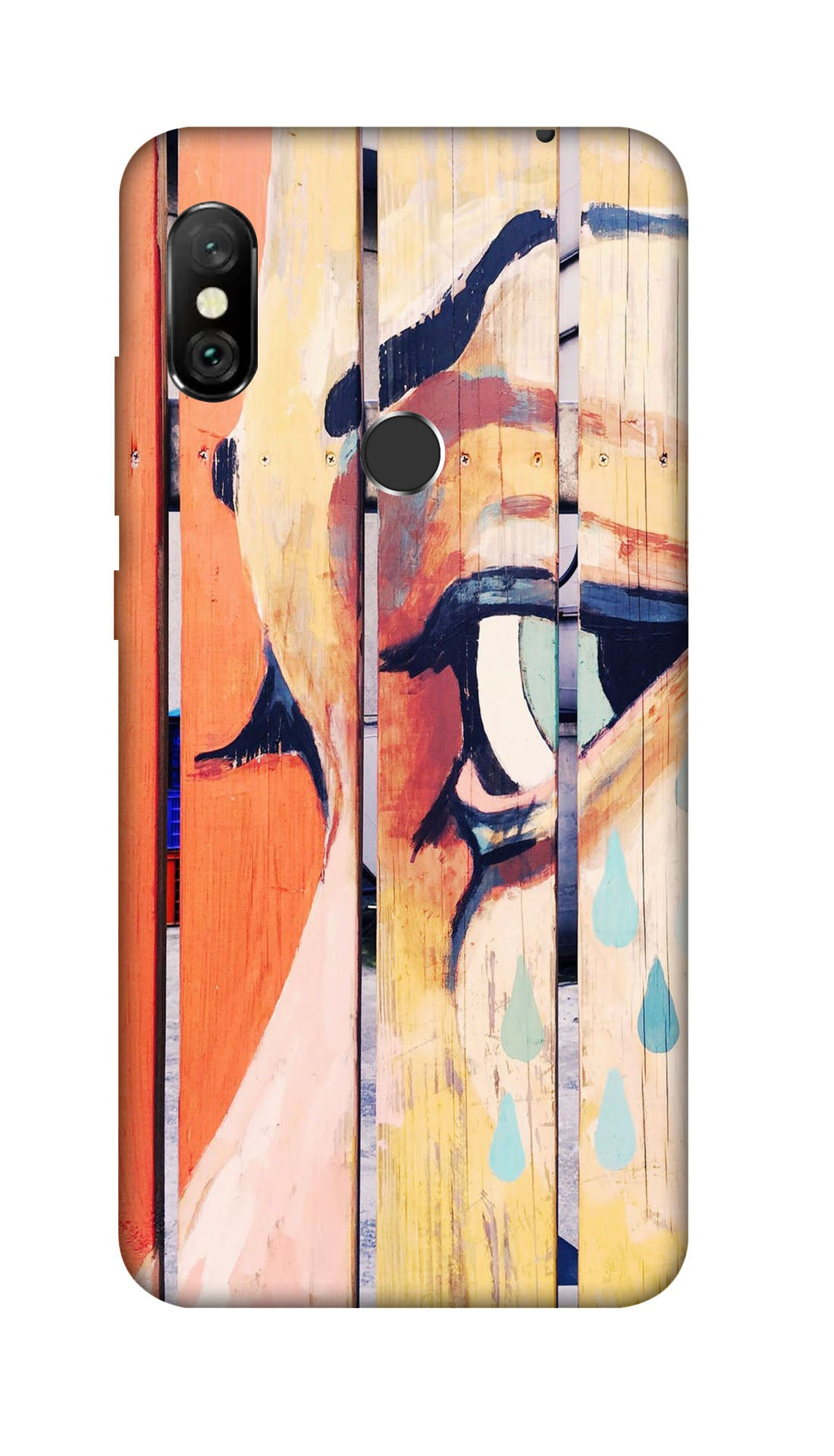 Painted wood Hard Case For Redmi 6 Pro