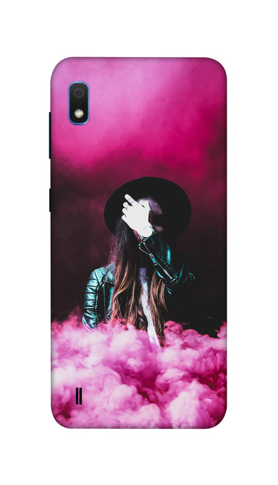 Pink smoke Hard Case For Samsung A10