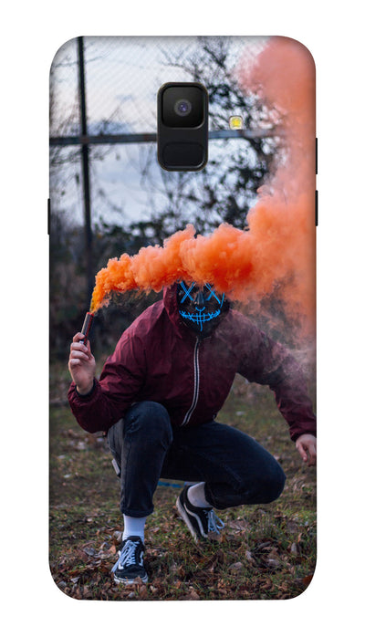 Oranfe smoke man Hard Case For Samsung A6
