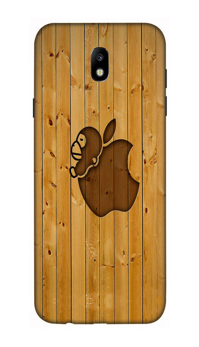 Brown iphone logo Hard Case For Samsung J7 Pro