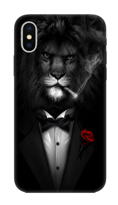Gentleman lion Hard Case For Apple iPhone X