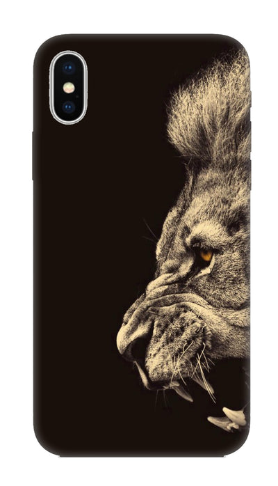 Half lion  Hard Case For Apple iPhone X