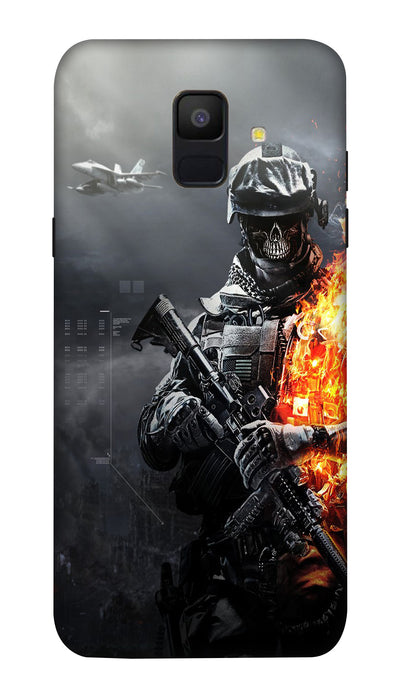 Burning fighter Hard Case For Samsung A6