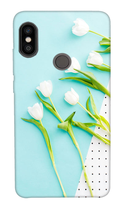 white flowers Hard Case For Redmi Note 5 Pro