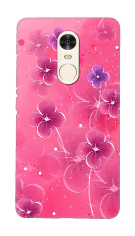 Pink flowers Hard Case For Redmi Note 4