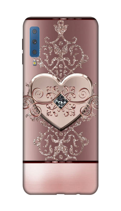 Crystal heart Hard Case For Samsung A7