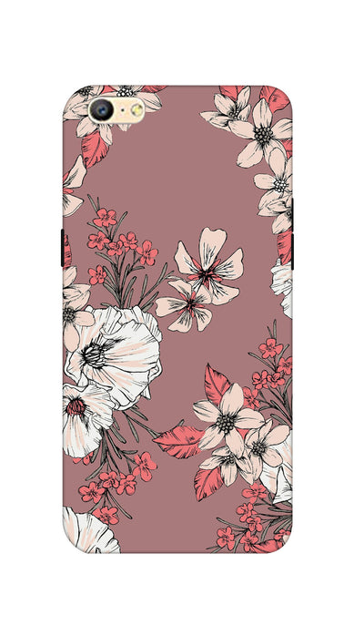 Printed flowers Hard Case For Oppo A57