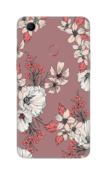 Printed flowers Hard Case For Oppo F7