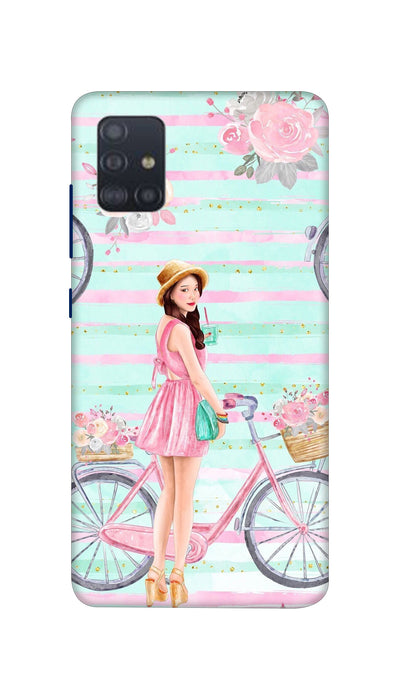 Cycle girl Hard Case For Samsung A51