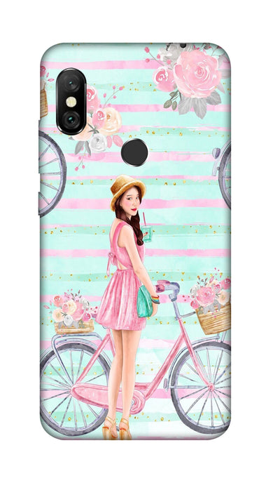 Cycle girl Hard Case For Redmi 6 Pro