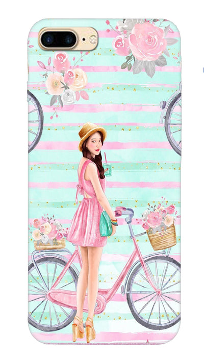 Cycle girl Hard Case For iPhone 7 Plus