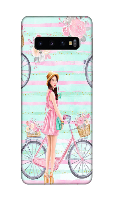 Cycle girl Hard Case For Samsung S10