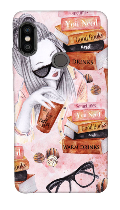 Reading girl Hard Case For Redmi Note 5 Pro