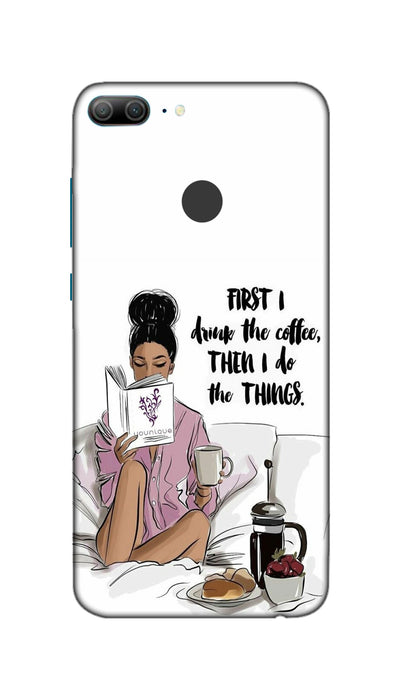 Coffee girl Hard Case For Honor 9 Lite