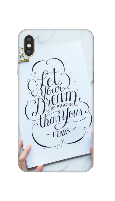 Let dream Hard Case For Apple iPhone XS