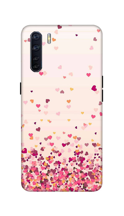 Sprinkle hearts Hard Case For Oppo F15