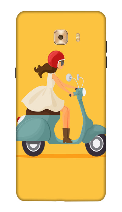 Scooty girl Hard Case For Samsung C7 Pro