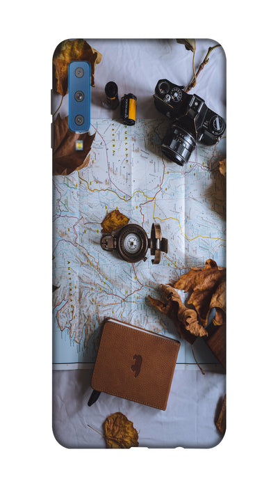 Travel Map Hard Case For Samsung A7