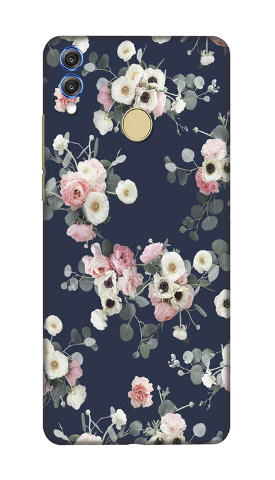 White & pink roses Hard Case For Honor 8X