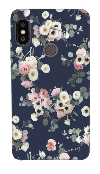 White & pink roses Hard Case For Redmi Note 5 Pro