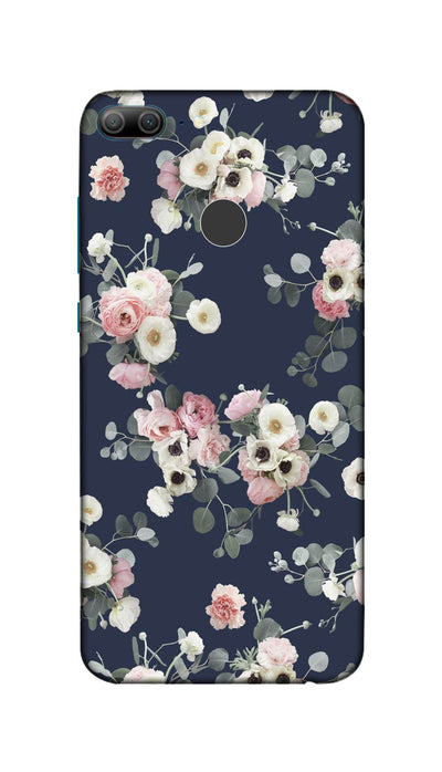 White & pink roses Hard Case For Honor 9 Lite