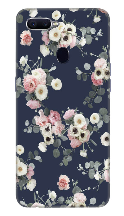 White & pink roses Hard Case For Oppo F9 Pro