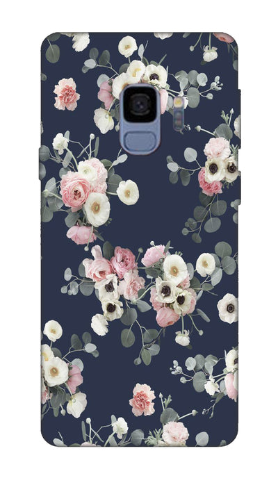 White & pink roses Hard Case For Samsung S9