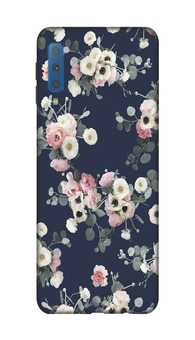 White & pink roses Hard Case For Samsung A7