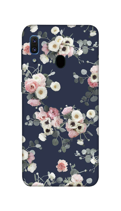 White & pink roses Hard Case For Samsung A30