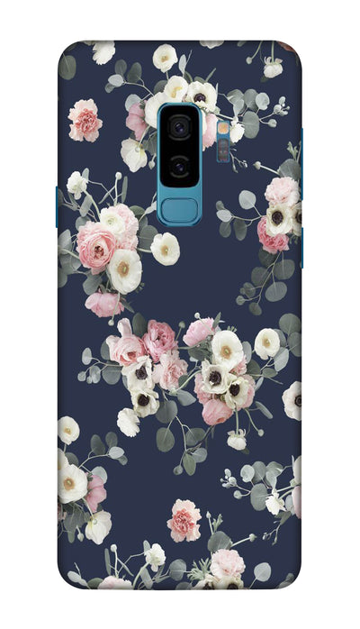 White & pink roses Hard Case For Samsung S9 Plus