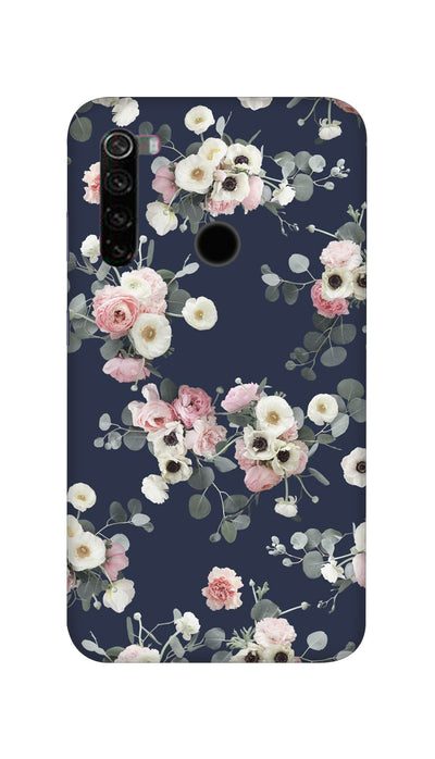 White & pink roses Hard Case For Mi Redmi Note 8