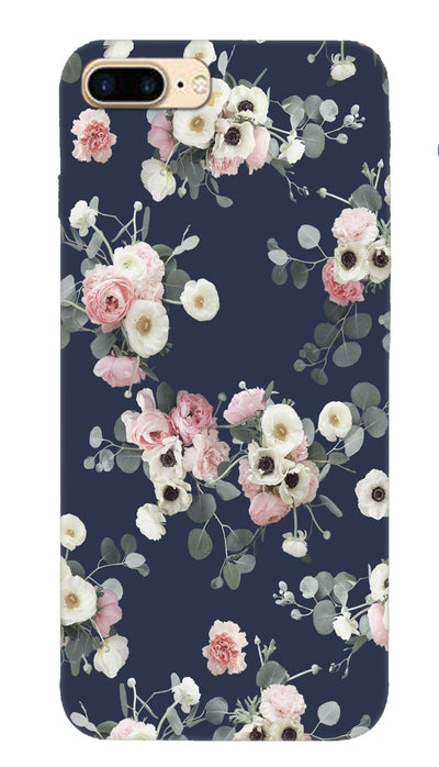 White & pink roses Hard Case For iPhone 7 Plus