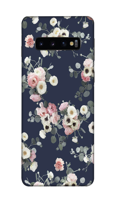 White & pink roses Hard Case For Samsung S10 Plus