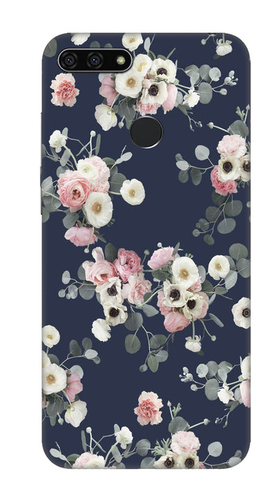 White & pink roses Hard Case For Honor 7A