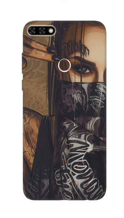 Shooting girl Hard Case For Honor 7C
