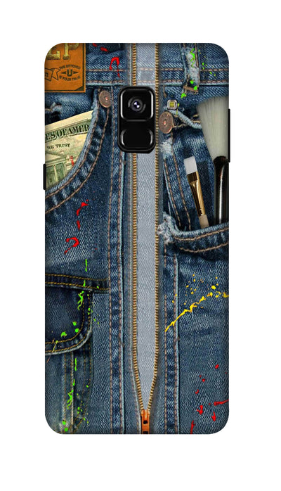 Jeans pocket Hard Case For Samsung A8