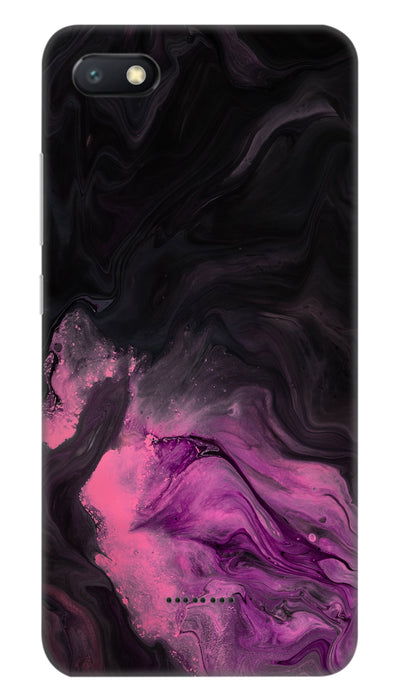 black & pink Hard Case For Redmi 6A