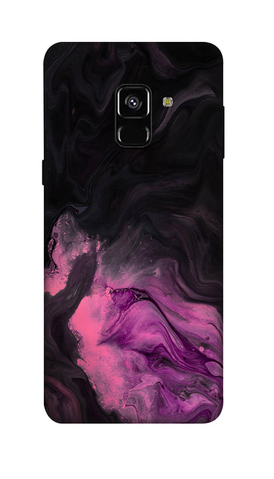 black & pink Hard Case For Samsung A8