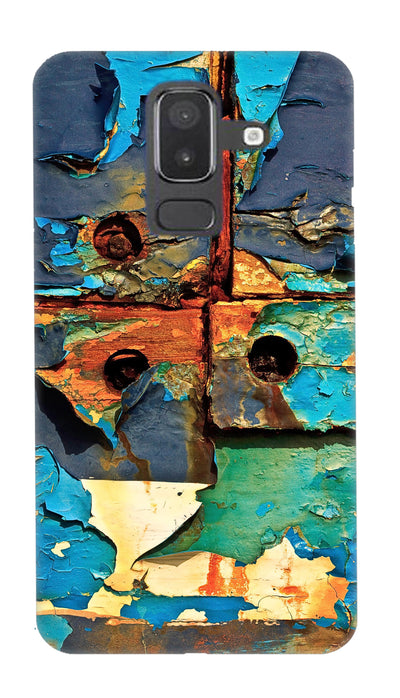 Colored patches Hard Case For Samsung J8