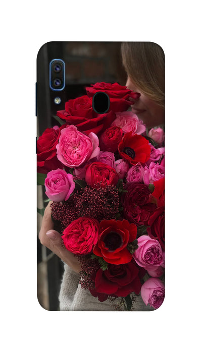 Rose boquet Hard Case For Samsung A30