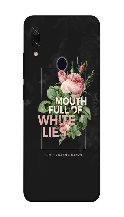 White lies Hard Case For Redmi Note 7 Pro
