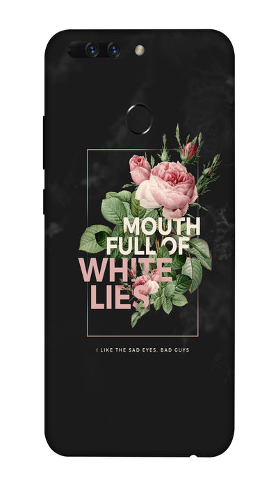 White lies Hard Case For Honor 8 Pro