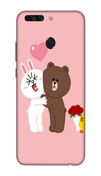 Teddy friends Hard Case For Honor 8 Pro