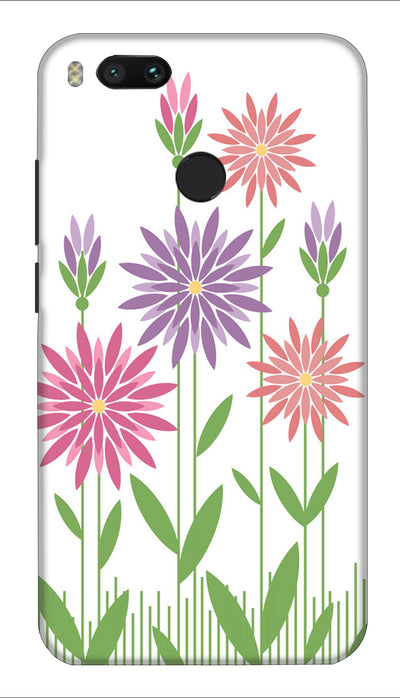Multicolour flower Hard Case For Mi A1
